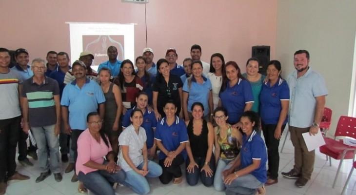 Preocupados com a Saúde do Trabalhador, a Secretaria Municipal de Saúde em parceria com o CEREST Regional, realizou Oficina de Saúde do Trabalhador com os colaboradores da Atenção Básica, momento de aprendizagem e prevenção da Saúde.